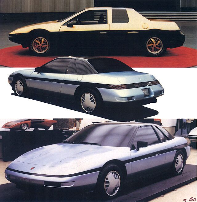 pontiac fiero prototype 1990 coachbuilt concept custom prot. Black Bedroom Furniture Sets. Home Design Ideas