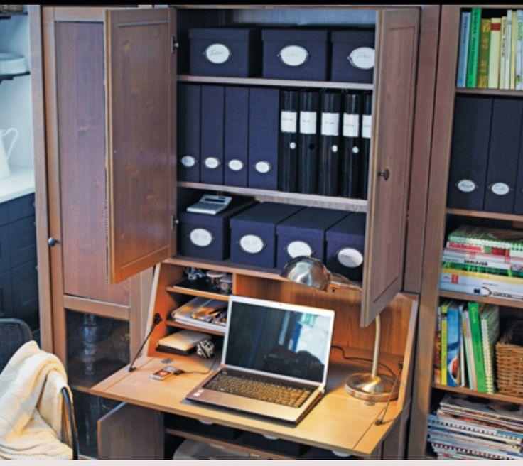 Ikea hemnes bureau office ideas pinterest for Bureau en pin ikea