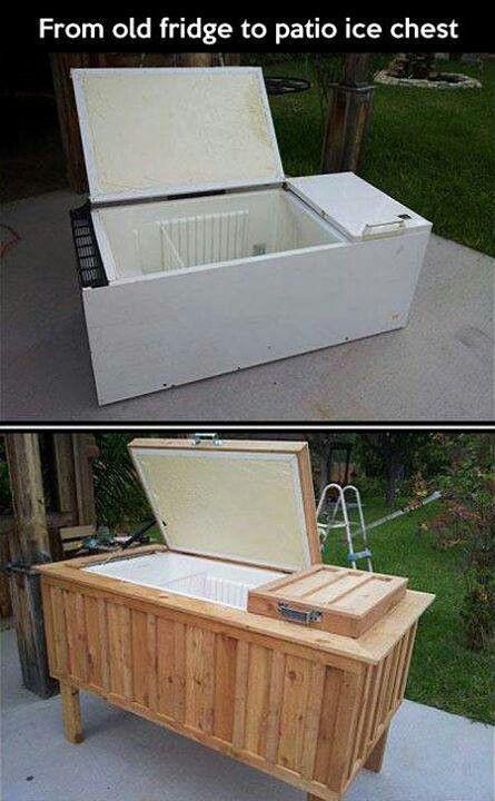 Diy Patio ice chest great yard