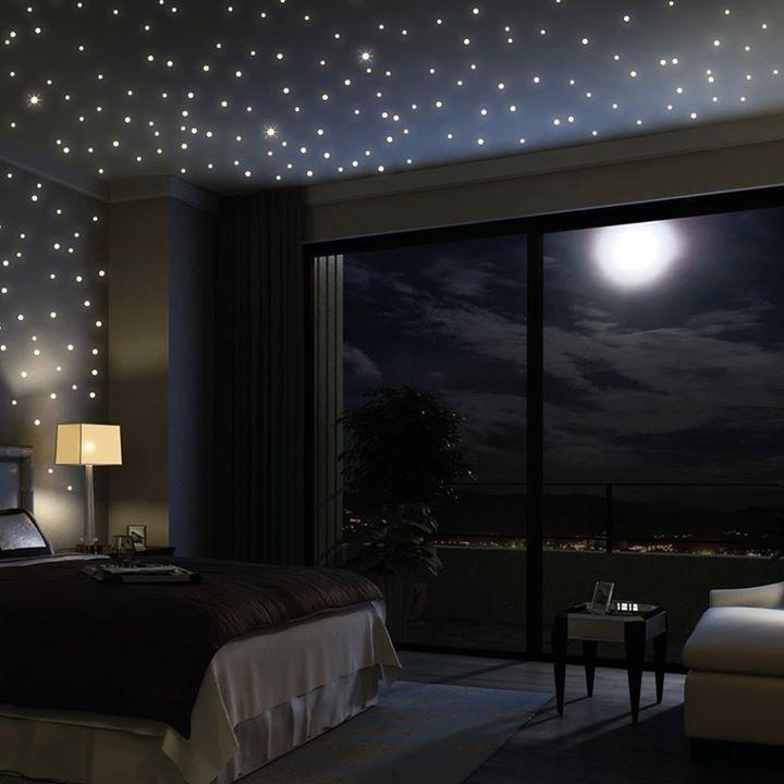 sch ner sternenhimmel ber dem bett good idea do it. Black Bedroom Furniture Sets. Home Design Ideas