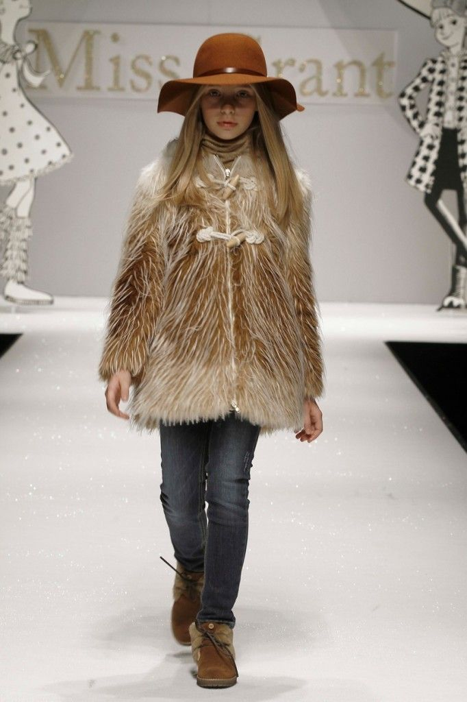 Miss Grant FW 2012 Hairy winter coat for children's fashion