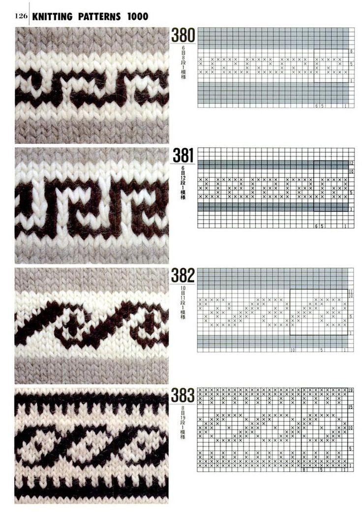 Knit patterns Fair Isle Pinterest