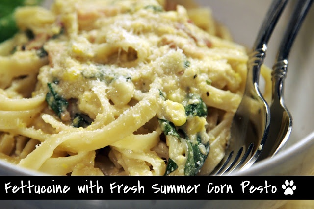 Fettuccine with Fresh Corn Pesto | 'To Cook List' | Pinterest