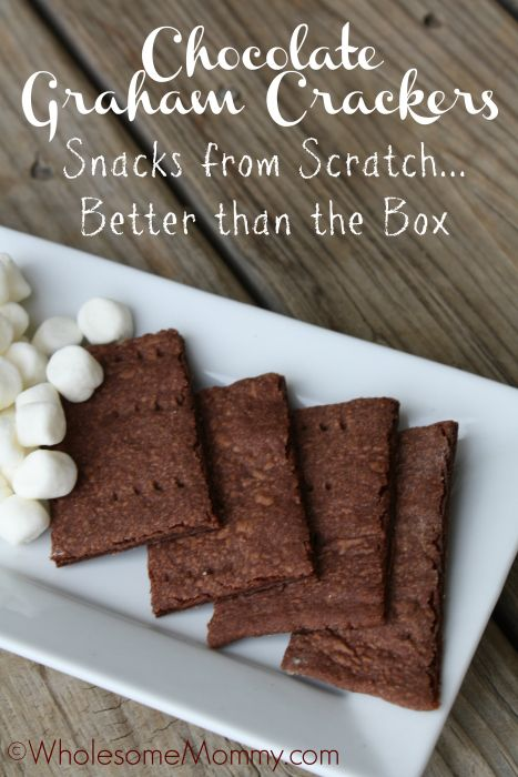 REAL Food Redo; Chocolate Graham Crackers | From WholesomeMommy.com
