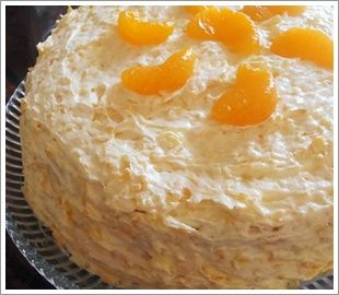 mandarin orange cake with pineapple whipped cream frosting coconut ...
