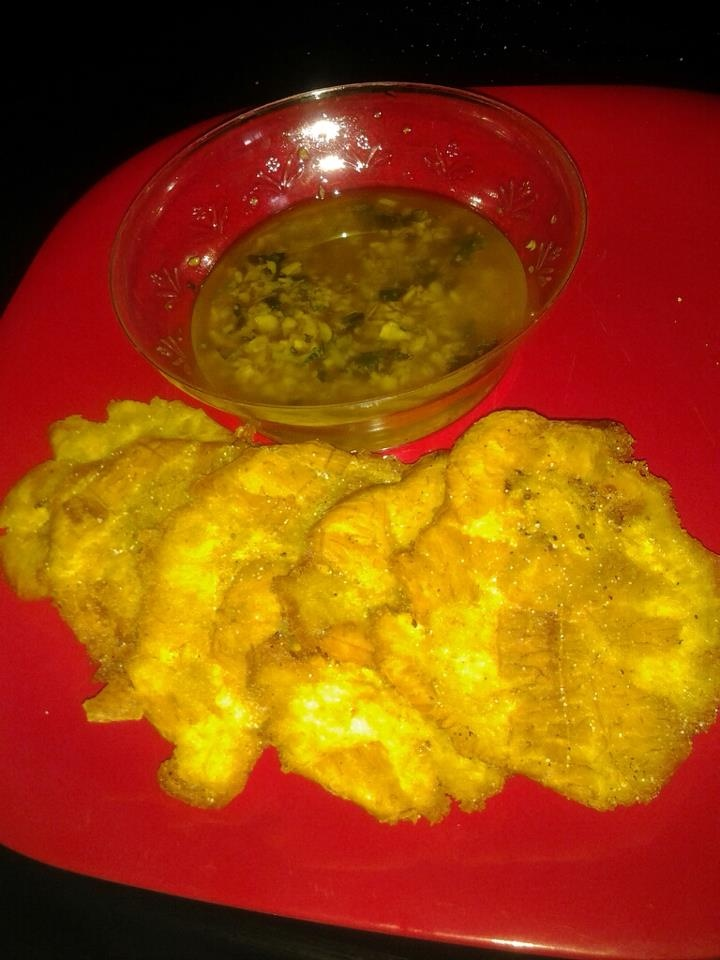 tostones with garlic oil | Spanish Food | Pinterest
