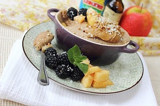 Blackberry Apple Oat Buckwheat Instant Bake (Flax) | Peachy Palate
