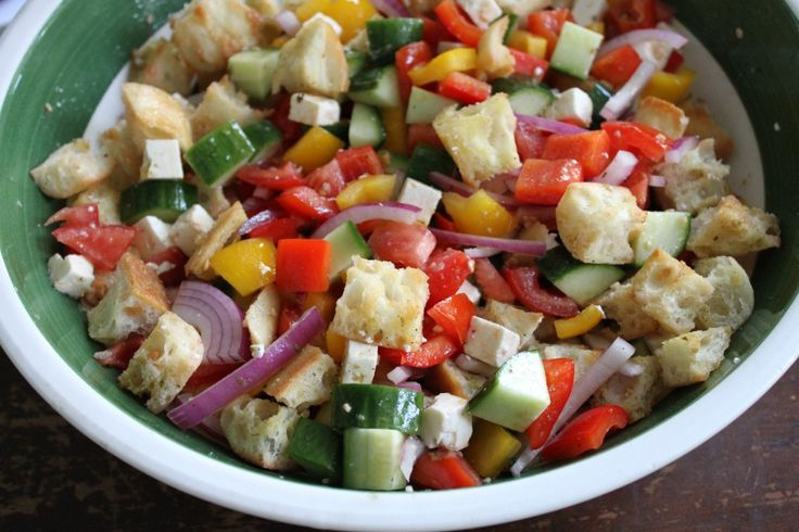 Panzanella Salad-The closer we get to summer, the more I crave this ...