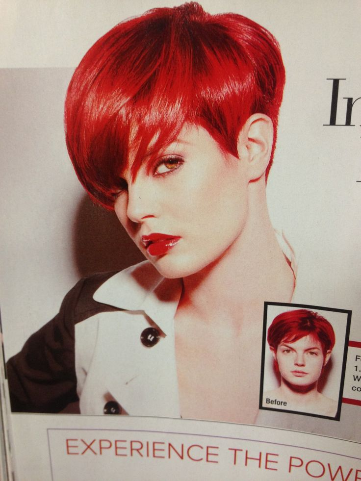 Awesome vivid red short cut