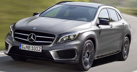 Mercedes GLA w całej krasie (źródło grafiki: Pinterest)