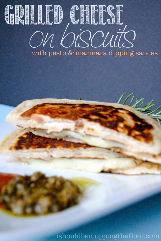Grilled Cheese Sandwiches made with Grands! biscuits. This recipe put ...