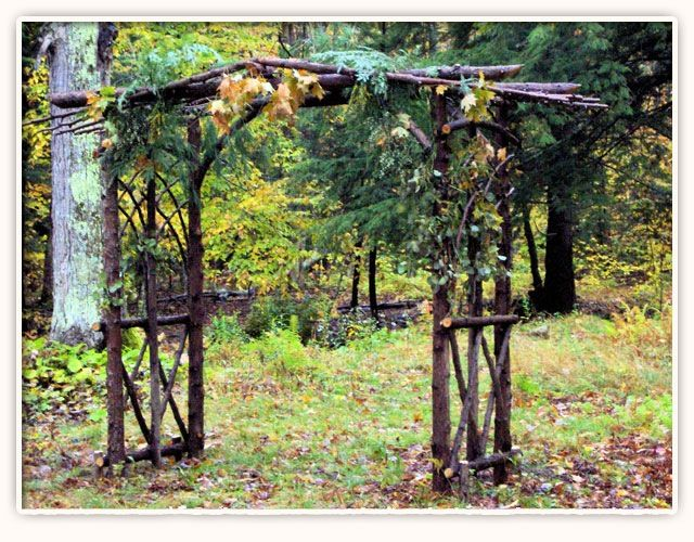 Rustic DIY arbor Fall Wedding Pinterest