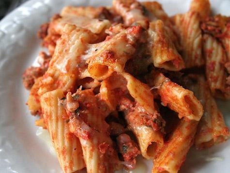 italian pasta favorite hearty rigatoni pasta and savory sausage bake ...