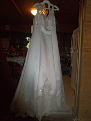A wedding gown