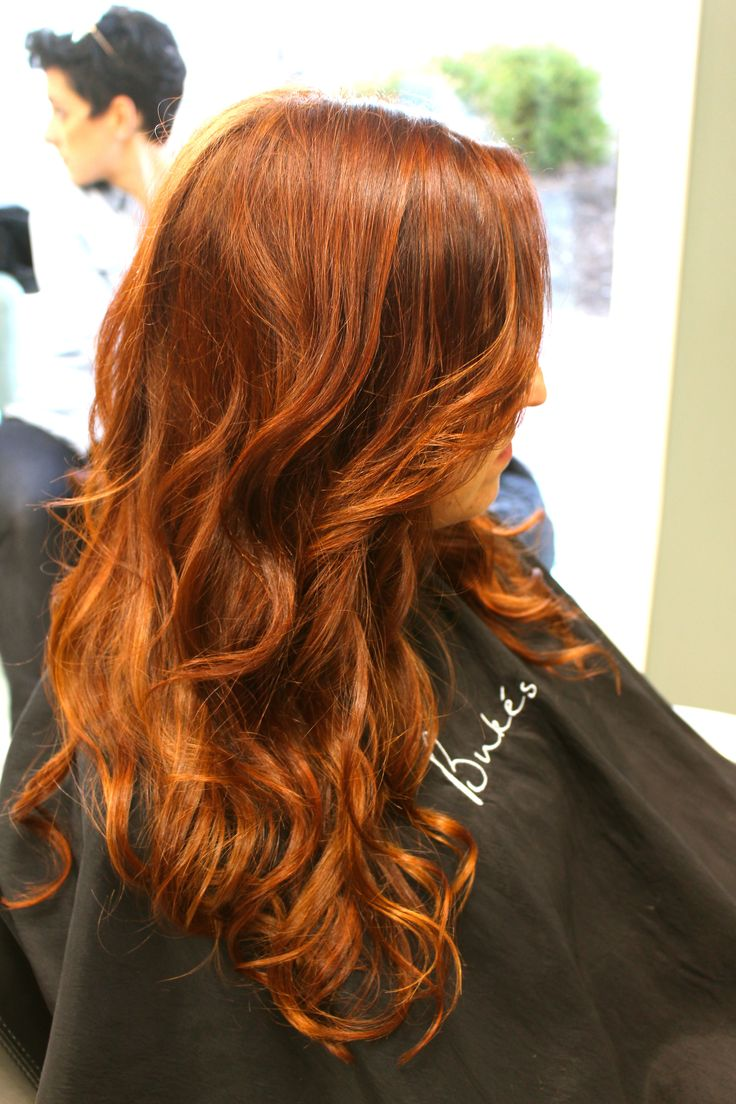 Red Hair Balayage Displaying  Images For Red Copper