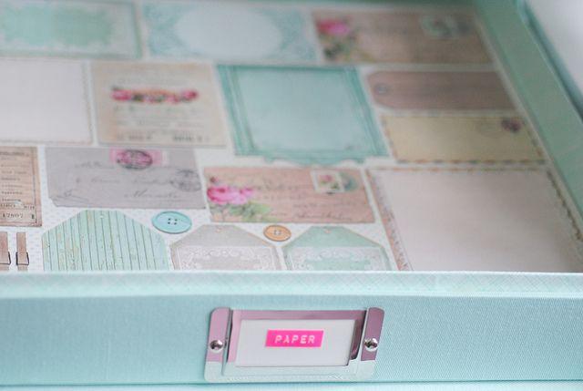 Paper storage box by toriejayne, via Flickr 640 x 429