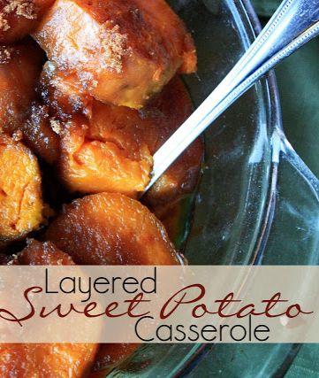 Layered Sweet Potato Casserole - the ULTIMATE sweet potato recipe!