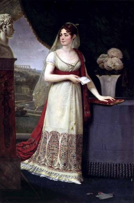 Josephine Empress of France-Jean Antoine Gros-1808-  Kashmir Shawl and shows the popularity of paisley during this period.