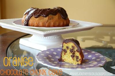 Jenna's Journey: Orange Chocolate Chunk Cake