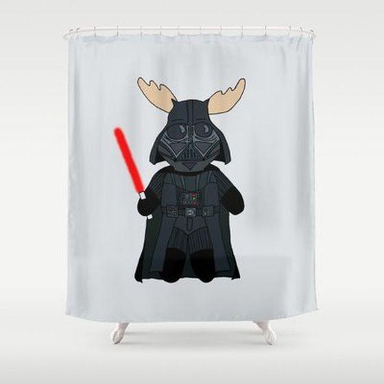 Elk vader shower curtain star wars pinterest