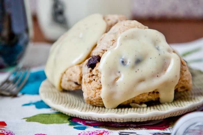 Cream Scones - Earl grey tart cherry cream scones with white chocolate ...