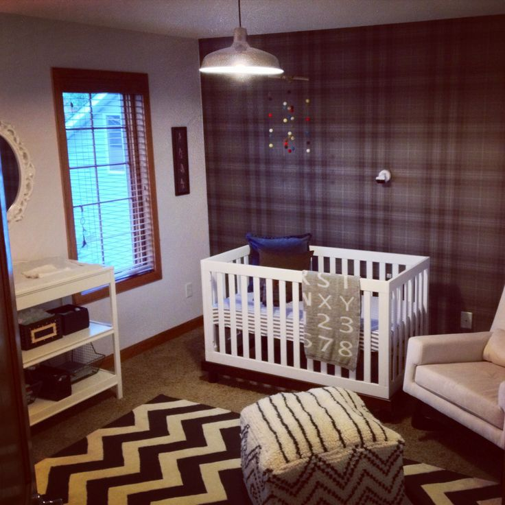 Modern baby boy nursery nesting pinterest for Modern nursery images