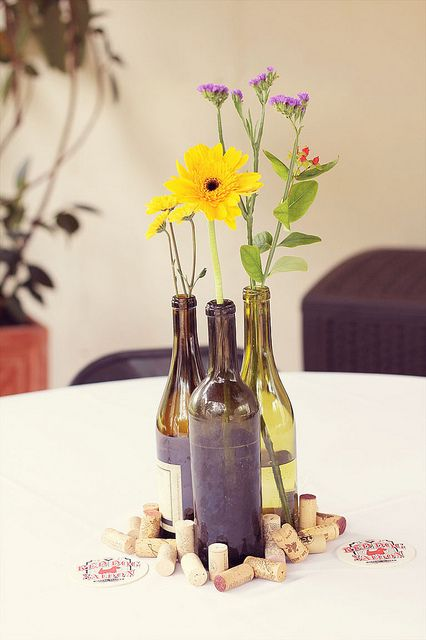 Wildflower Centerpieces by mtheginger, via Flickr