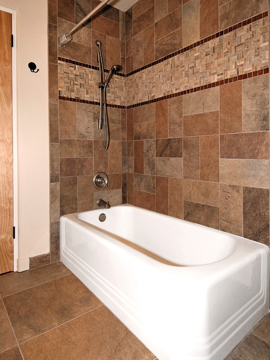 Tile around tub bathrooms pinterest for Bathroom tile designs around bathtub