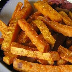 """Baked Sweet Potato Sticks 