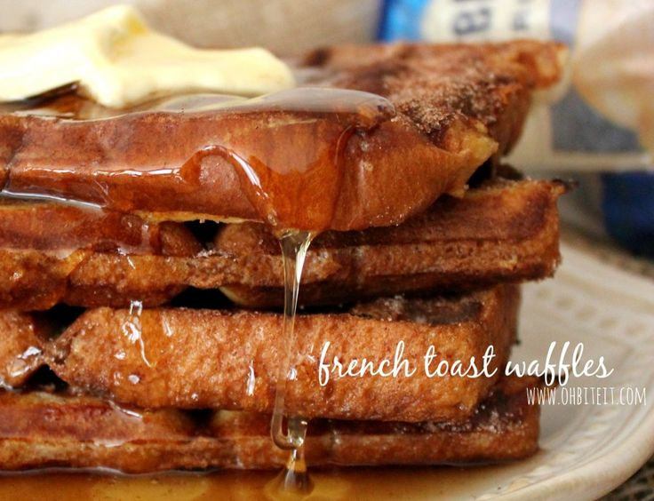 French Toast Waffles!   Oh Bite It   Breakfast Yums   Pinterest