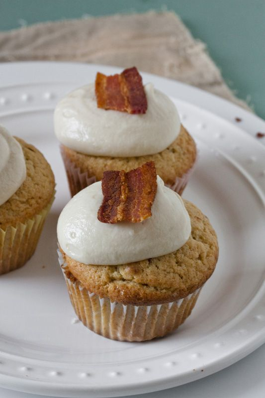 Maple Bacon Cupcakes with Maple Frosting | Recipes... Desserts | Pint ...