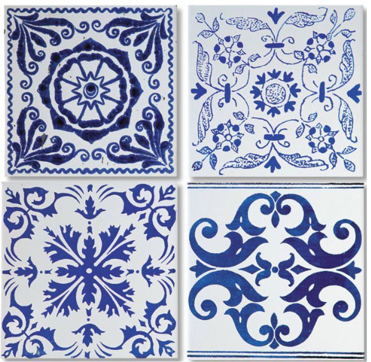 Azulejo portugu s azul e branco pinterest for Azulejo azul