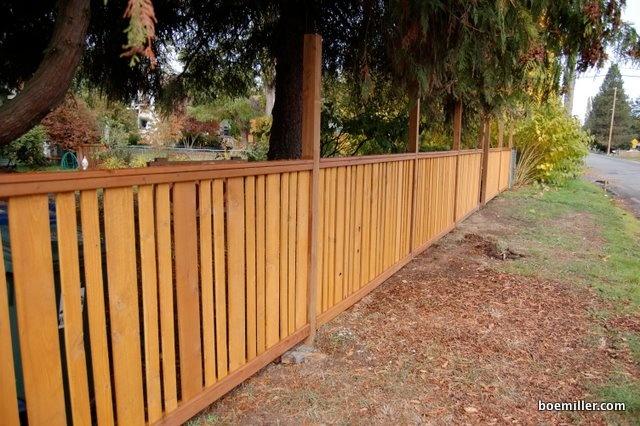 Craftsman fence slat style for Craftsman style fence