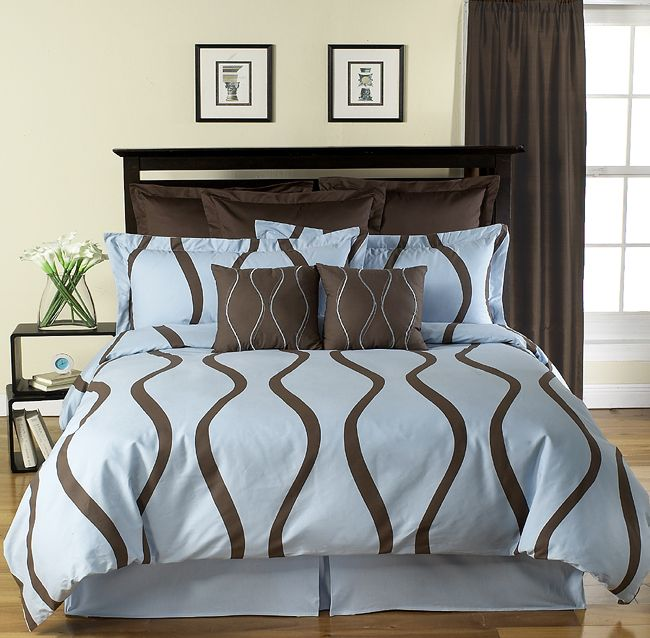 New Wave 5 Piece Duvet Set-Modern Bedding