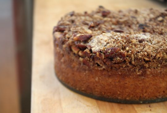10 minute ground cherry coffeecake...I bet this would work with ...