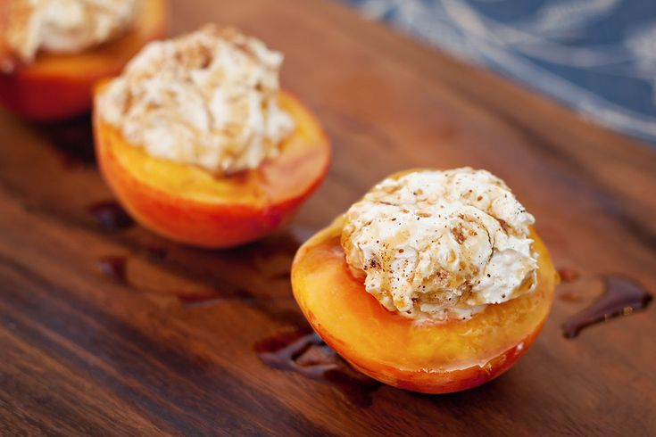Grilled Peaches with Honey-Ginger Cream Cheese Fluff | Tasty Kitchen ...