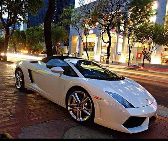 Luxury Car Lamborghini: Lamborghini Convertible In White #exotic