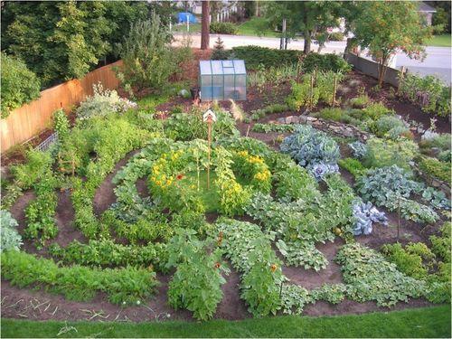 Vegetable garden labyrinth  Garden Goddessing  Pinterest