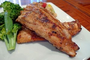 Grilled Maple Mustard Salmon | Food to help you Flourish! | Pinterest