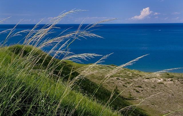 Sleeping Bear Dunes, miles of golden sand & water