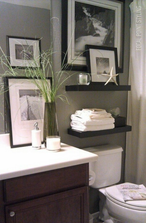Beautiful above toilet decor home decor ideas pinterest for Toilet decoration accessories