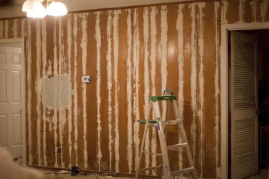 Before Painting Paneling Fill In The Cracks With Drywall Compound Or - Savvyhousekeeping Renting Cover Covering A Wall Without Painting