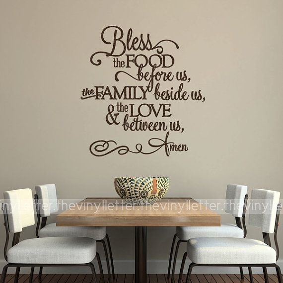Bless the food before us family beside us love between - Kitchen wall stickers decor ...