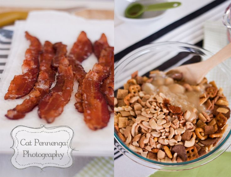 Maple Bacon party mix | Did someone say bacon? | Pinterest