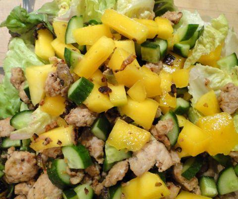 Chicken Mango Lettuce Wraps Recipe — Dishmaps