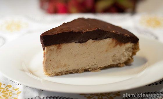 peanut butter pie with a sweet graham cracker crust and a chocolate ...