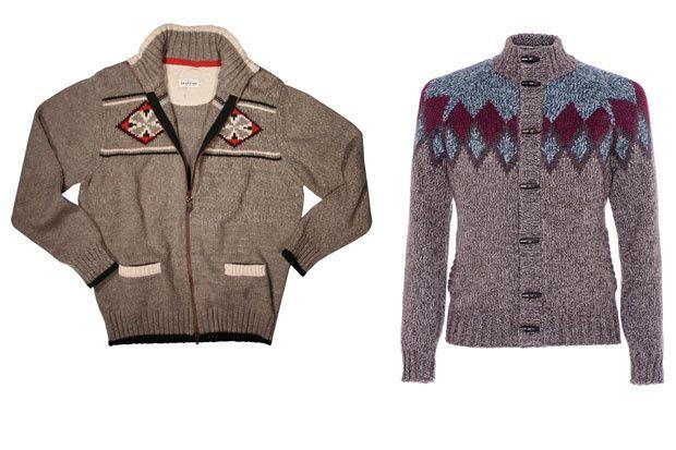 Suéteres con tejido nórdico