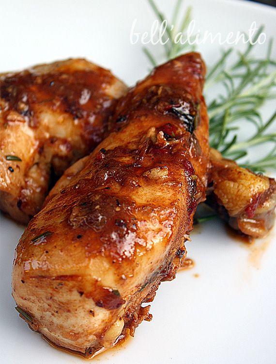 Pollo in Potacchio {Braised Chicken w/Onions and Chili Pepper}