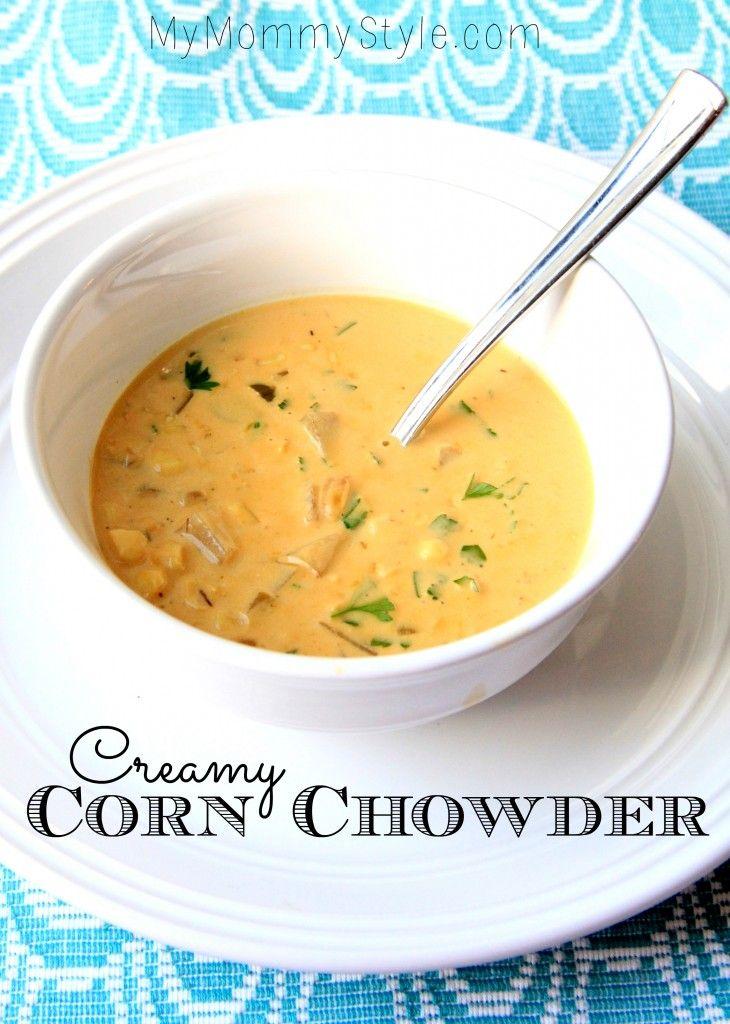 Creamy Corn Chowder I added some cheese. So good!