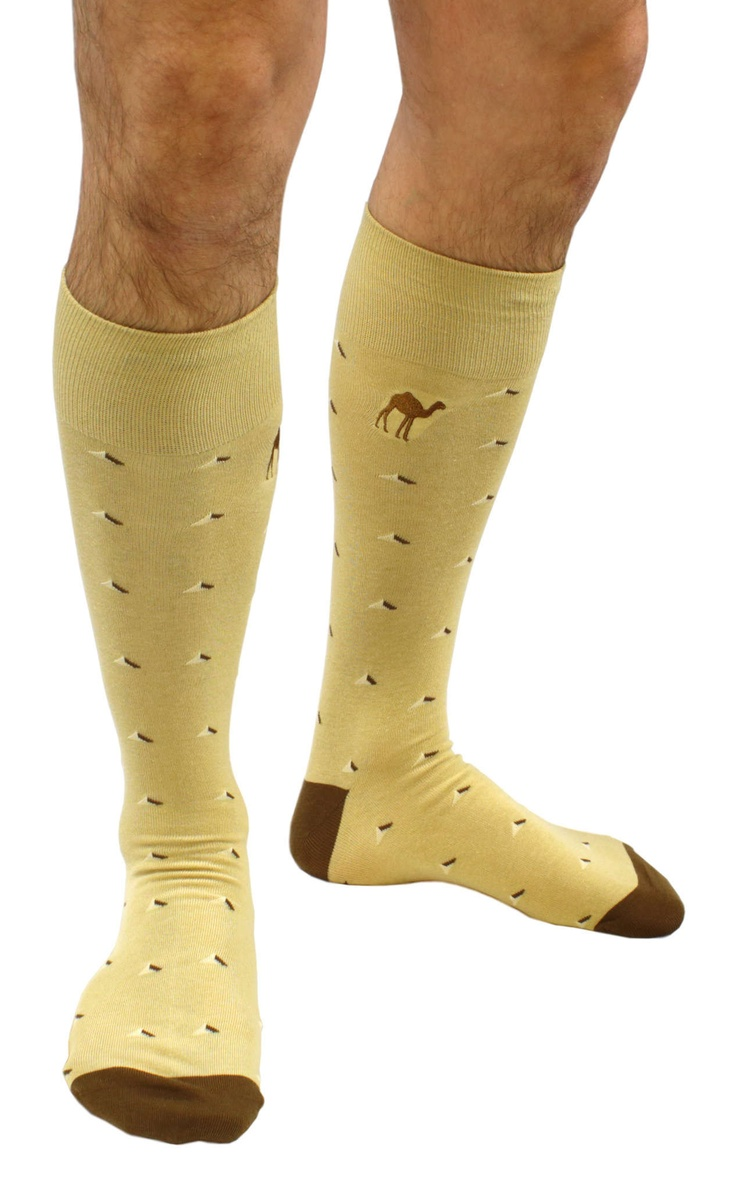 """Camel Toes"", camel themed cotton dress socks from Soxfords!  #soxfords #socks"